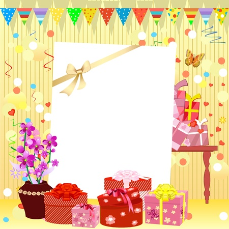 birthday banner: birthday invitation Illustration