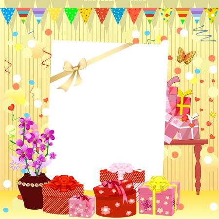 invito compleanno: invito compleanno Vettoriali