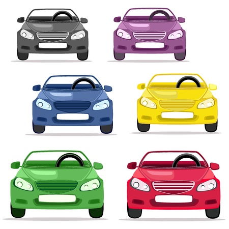car convertible in different colors Stock Vector - 9287017