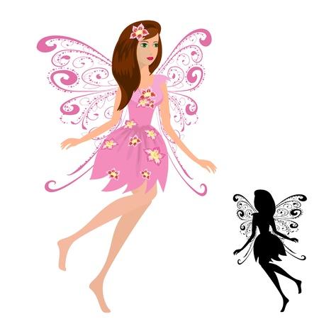 fairy girl with flowers Vector