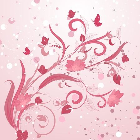 abstract floral pattern pink Stock Vector - 9287018