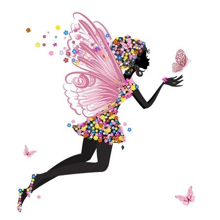 蝶と花の妖精