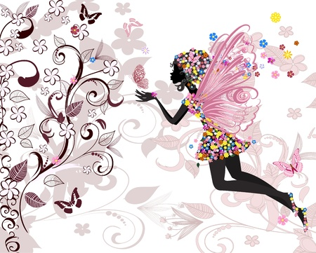 fairy pattern Stock Vector - 9422426