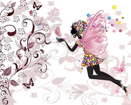 donna farfalla: modello di fata Vettoriali