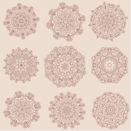 arabesque collection Vector