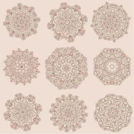 arabesque collection Vector