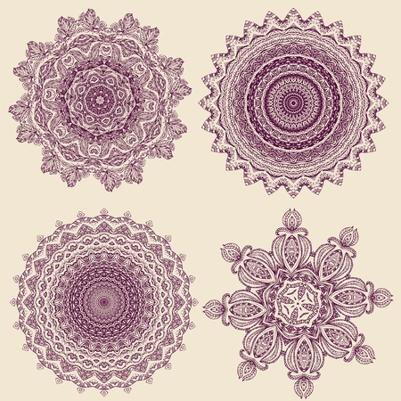 lacy arabesque designs Stock Vector - 9560733