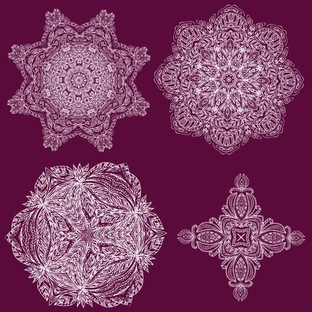 lacy arabesque designs Vector