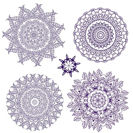 islamic art: arabesque pattern lace napkins Illustration
