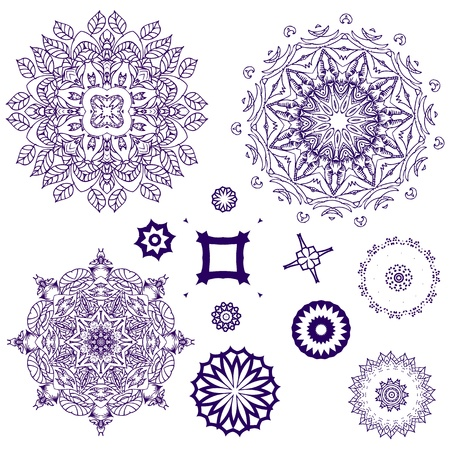 islamic art: arabesque pattern lace napkins Illustration