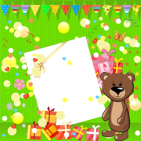 fun birthday party with gifts Stock Vector - 9663878