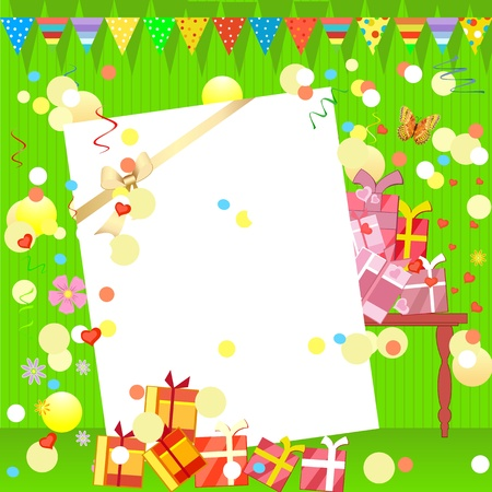 fun birthday party with gifts Stock Vector - 9663857