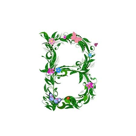 Cover letter flower b Stock Vector - 9718787