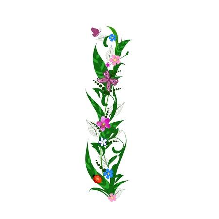Cover letter flower Stock Vector - 9718782