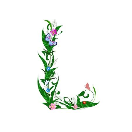 Cover letter flower Stock Vector - 9718970