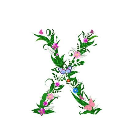 Cover letter flower Vektorové ilustrace