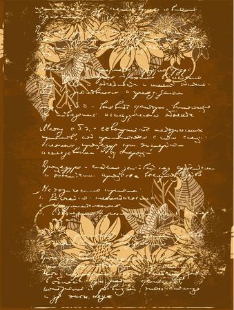 grunge letter of flowers Stock Vector - 9829091