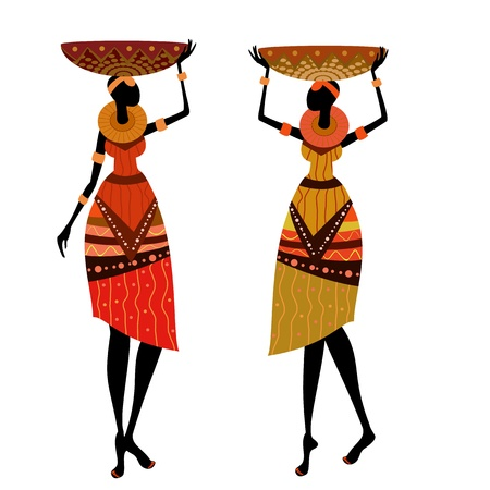 pottery: native African women