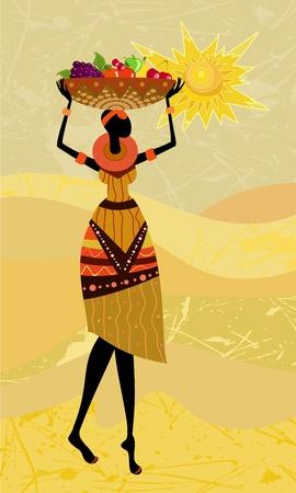 flores exoticas: mujeres africanas nativas Vectores