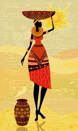 femmes africaines: femmes africaines natives Illustration