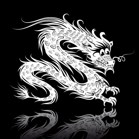 eastern zodiac: White Chinese dragon