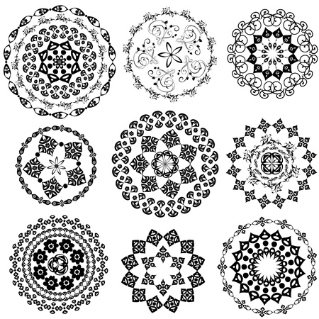 islamic art: Set Oriental Arabesque Illustration