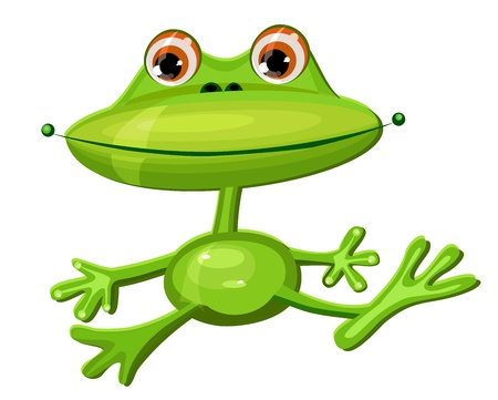 green frog funny Vector