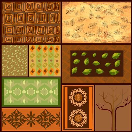 floral carpet: Mix African backgrounds Illustration