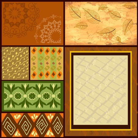 african fabric: Mix African backgrounds Illustration