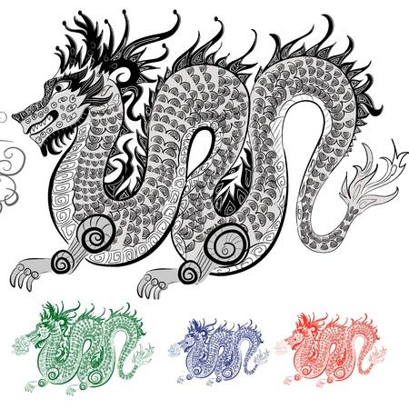 tatouage dragon: Dragon chinois