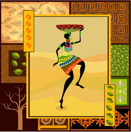 african fashion: African girl dressed in a decorative
