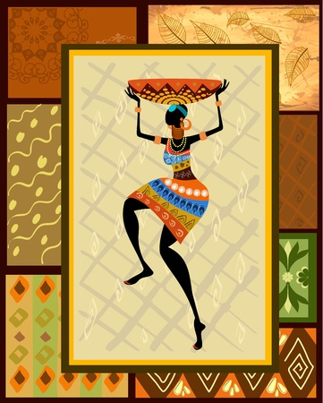 ethnic dress: African girl dressed in a decorative