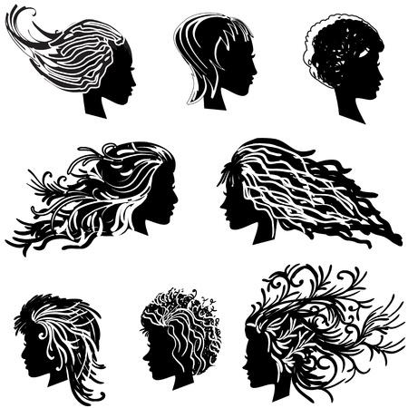 woman short hair: head hair