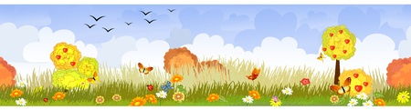 beaux paysages: paysage d'automne transparente