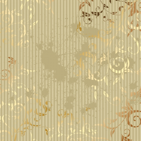 wallpaper pattern: vintage golden background Illustration