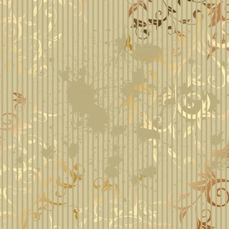 vintage wallpaper: vintage golden background Illustration