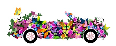 floral convertible Vector