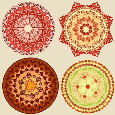rosette: round oriental pattern Illustration