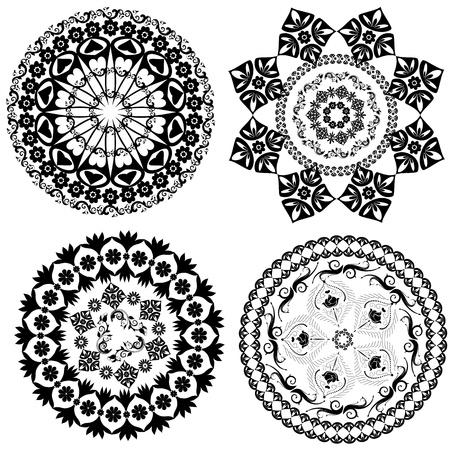 orientalische muster: Runde orientalischen Muster