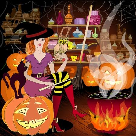 enchantress: Enchantress is preparing for Halloween