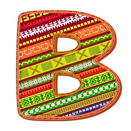 brief van het ornament Vector Illustratie
