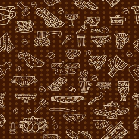 kitchen utensils background Vector