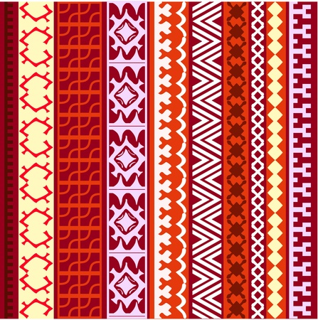 floral pattern motif: ornament border background of northern peoples Illustration
