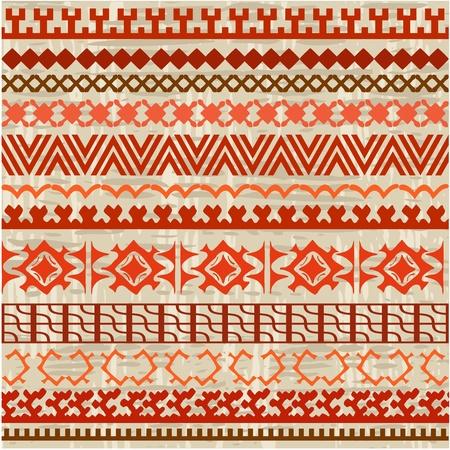 dessin tribal: fond fronti�re ornement des peuples nordiques