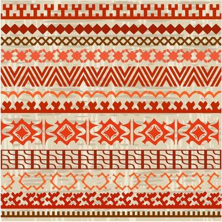 motif floral: ornament border background of northern peoples Illustration