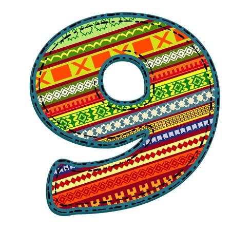 serviette: figura étnica ornamento