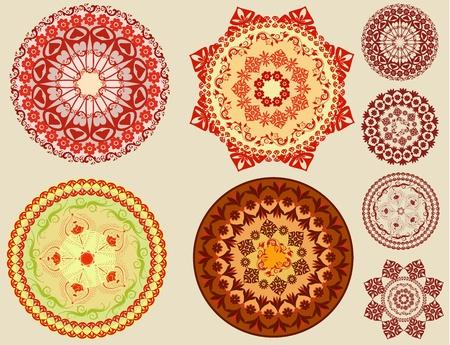 circular arabesques Vector