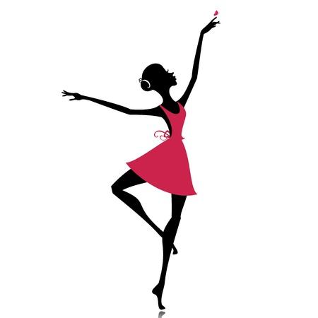 danza clasica: bailarina agraciado con una mariposa