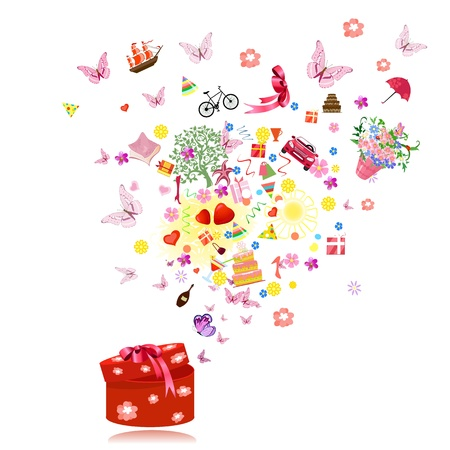 Fireworks fun gifts Vector