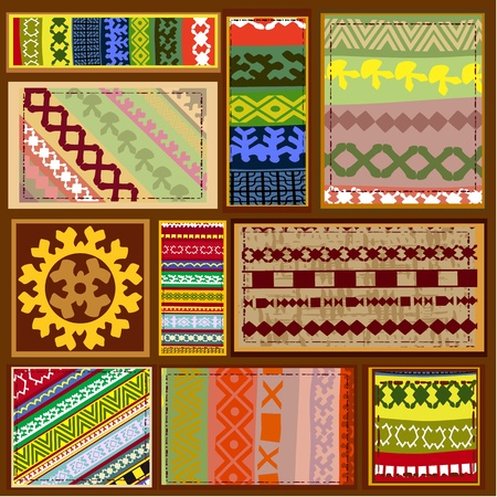 ethnic pattern of the northern Siberian peoples Stock Vector - 10901692